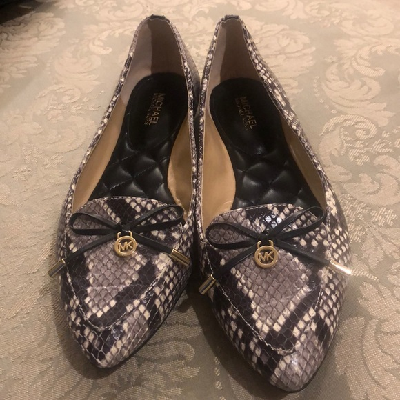 9ec8b71ca MICHAEL Michael Kors Shoes | Michael Kors Snakeskin Flats | Poshmark